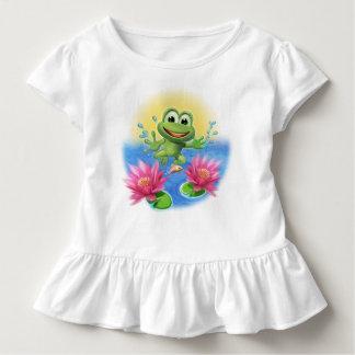Cute Leapfrog Ruffle T shirt birthday personalised