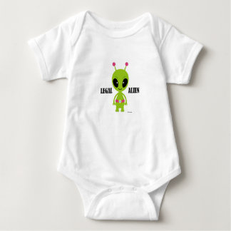 CUTE LEGAL ALIEN BABY OUTFIT BABY BODYSUIT