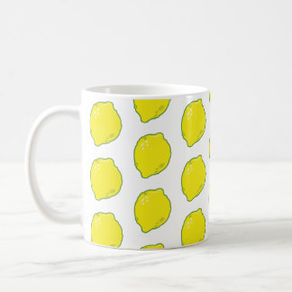 Cute Lemon Pattern Coffee Mug