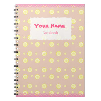 Cute Lemon Slices Pattern Notebook