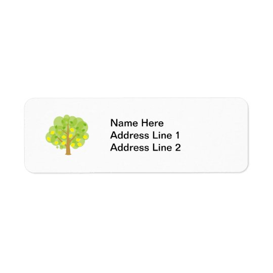 Cute Lemon Tree Return Address Label