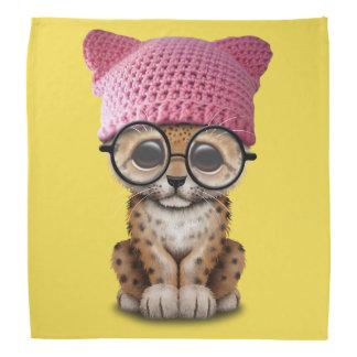 Cute Leopard Cub Wearing Pussy Hat Bandana