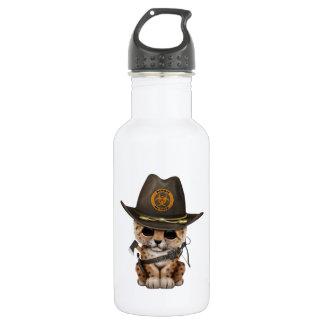 Cute Leopard Cub Zombie Hunter 532 Ml Water Bottle