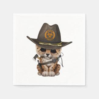 Cute Leopard Cub Zombie Hunter Disposable Serviette