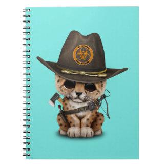 Cute Leopard Cub Zombie Hunter Notebooks