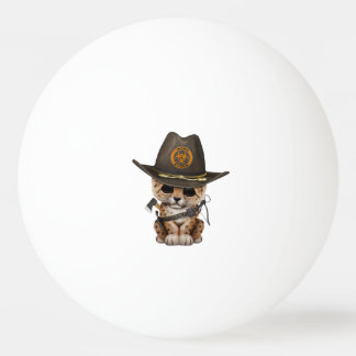 Cute Leopard Cub Zombie Hunter Ping Pong Ball