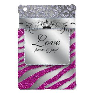 Cute Leopard Zebra Princess Crown Glitter iPad Mini Cases