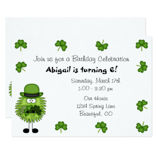 Cute Leprechaun Irish St Patrick's Day Birthday Card
