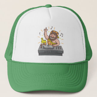 Cute Lets Rock Stone Age Caveman Deejay Hat