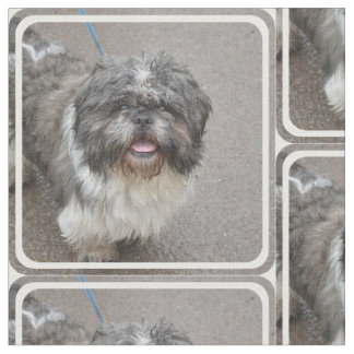 Cute Lhasa Apso Fabric