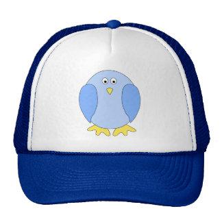 Cute Light Blue Bird Cartoon. Cap
