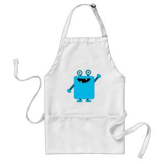 Cute Light Blue Cartoon Monster Apron