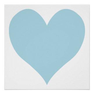 Cute Light Blue Heart Perfect Poster