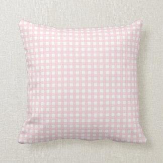 Cute light pink gingham pattern cushion