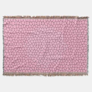Cute Light Pink Mosaic Pattern Throw Blanket