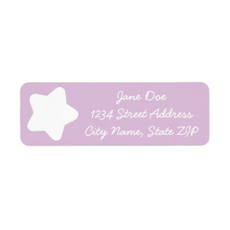 Cute Light Purple Star Return Address Label