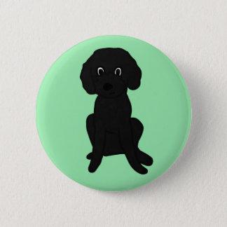 Cute Lil' Black Poodle Mix :3 6 Cm Round Badge