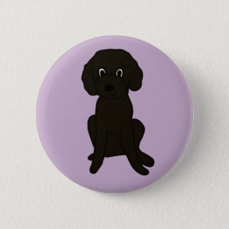Cute Lil' Brown Poodle Mix :3 6 Cm Round Badge