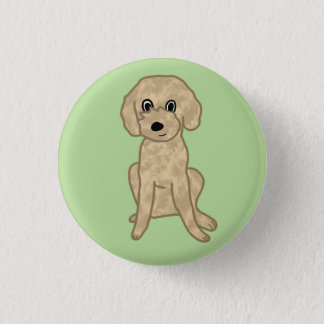 Cute Lil' Fuzzy Pup :3 3 Cm Round Badge