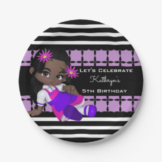 Cute Lil Girl Custom Birthday Paper Plate