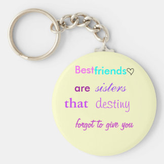 cute lil heart, Best , friends, are , sisters, ... Key Ring