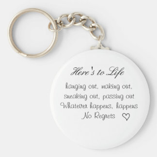 cute lil heart, Here's to Life, hanging out, ma... Key Ring