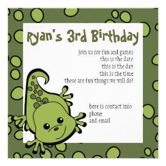 Cute Lil Lizard Custom Invite