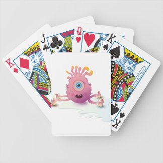 Cute Lil monster Bicycle Playing Cards