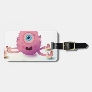 Cute Lil monster Luggage Tag