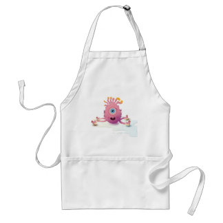 Cute Lil monster Standard Apron