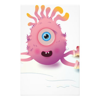 Cute Lil monster Stationery