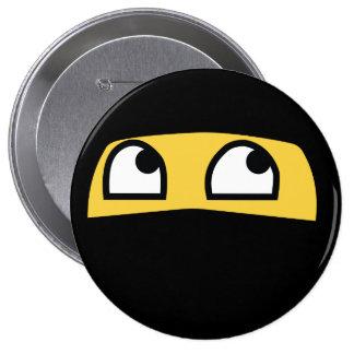 Cute Lil' Ninja Emoji 10 Cm Round Badge