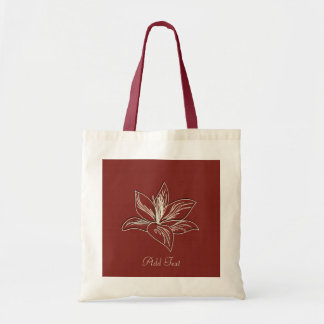 Cute Lily Drawing Add Text Tote