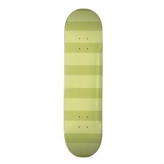 Cute Lime Green Stripes Skateboard Decks
