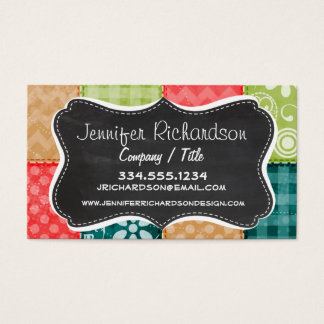 Cute Lime Green, Turquoise, and Scarlet Red Business Card
