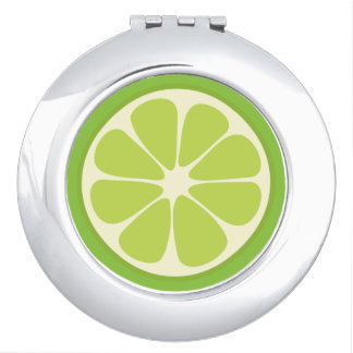 Cute Lime Slice Citrus Fruit Funny Foodie Fun Mirrors For Makeup