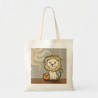 Cute Lion and Owl Tote Bag