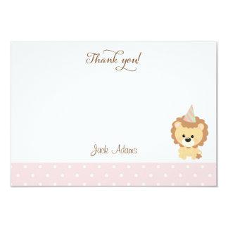 Cute Lion Birthday Thank You Card 9 Cm X 13 Cm Invitation Card
