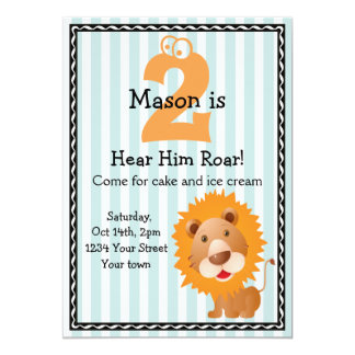 Cute Lion Boy's Birthday Card