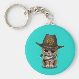 Cute Lion Cub Zombie Hunter Key Ring