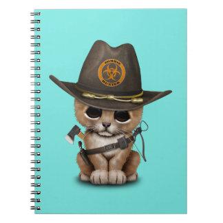 Cute Lion Cub Zombie Hunter Notebooks