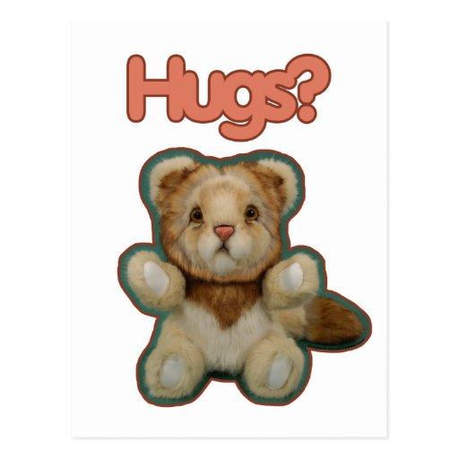 Cute Lion Hugs Postcards