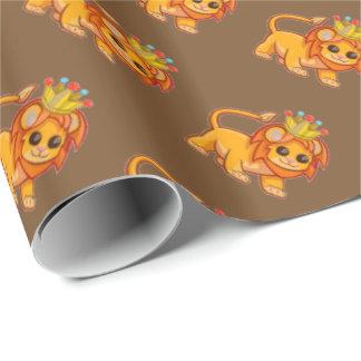 Cute Lion King Crown Jungle Animal Kids Gift Wrap