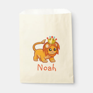 Cute Lion King Crown Jungle Animal Kids Name Favour Bags