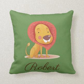 Cute Lion King Illustration Personalized your name Cushion