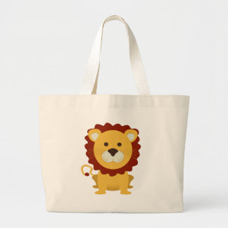 Cute Lion Large Tote Bag