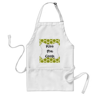Cute Lion on Green Pattern Gifts for Kids Apron
