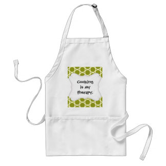 Cute Lion on Green Pattern Gifts for Kids Standard Apron
