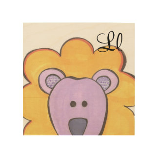 Cute Lion Panel Art - L is for Lion