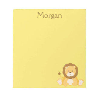 Cute Lion Yellow Personalize Notepad